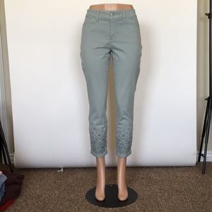 Women's NYDJ Pants Aqua Green Sz 10